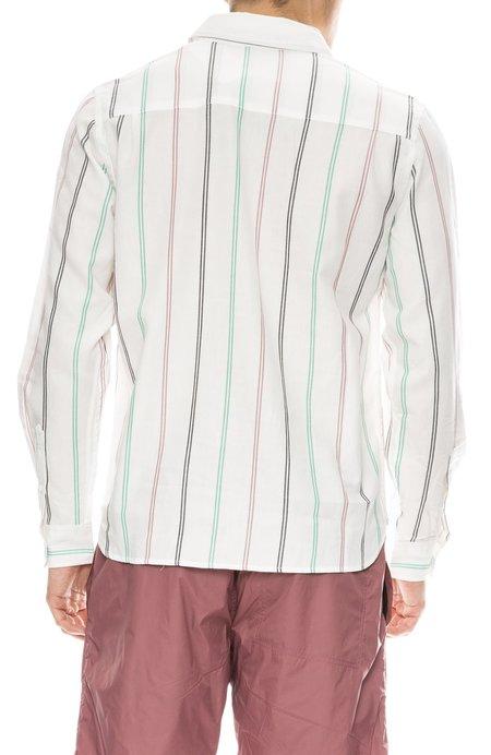 Saturdays Surf NYC Mickey Tencel Stripe Long Sleeve Shirt - IVORY