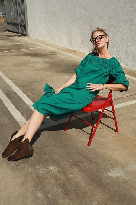 Merlette Bonaire Smocked Dress - Malachite