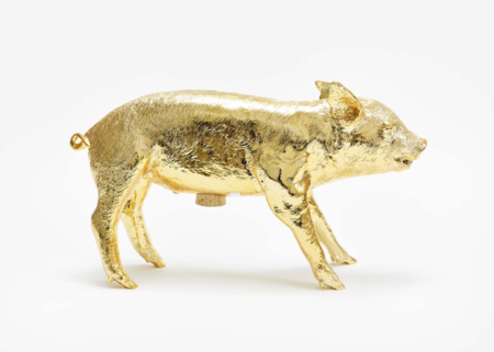 Areaware Bank in the Form of a Pig - Gold