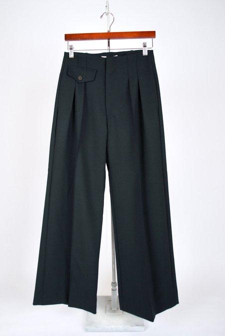 SEA Wool Tradition Striped Track Pant - Dark Green