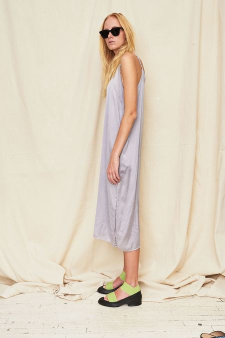 Colorant Silk Slip Dress - Taro