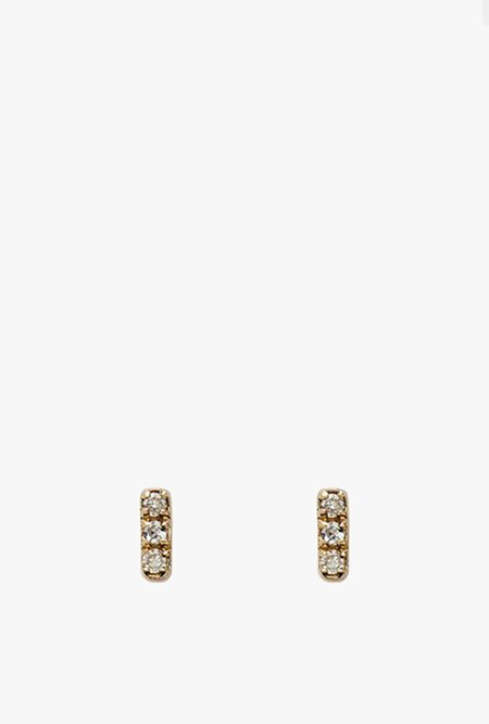 Stella and Bow Bella Tiny Earrings - yellow gold