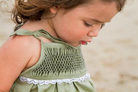 KIDS Petit Mioche hand-smocked dress - sage