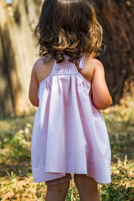 KIDS Petit Mioche set of hand-smocked dress and bloomers