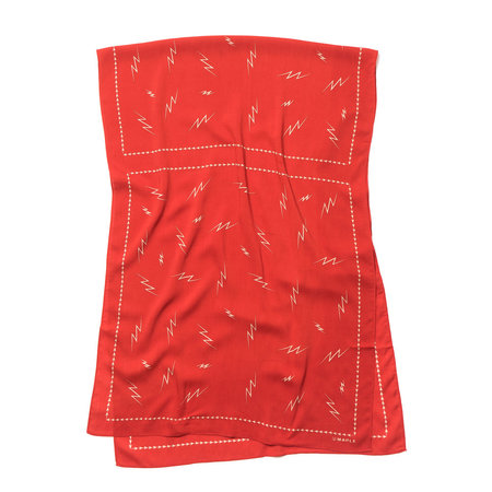 Maple Big Bolts Scarf - Red