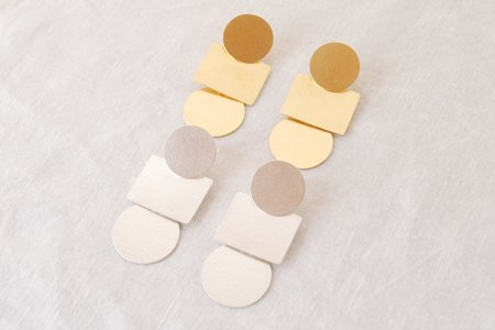 Annie Costello Brown Mini-Popova Earrings