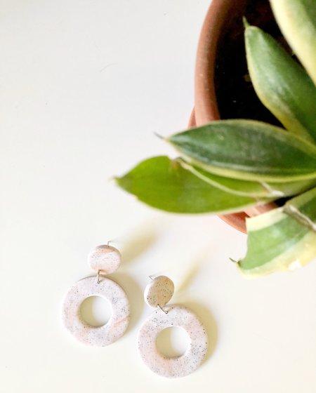Elise Ballegeer Lilly Earrings - Rose Marble