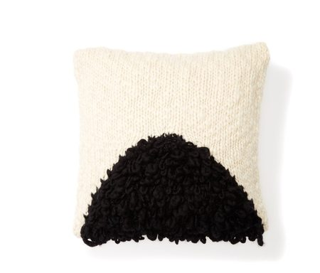 MINNA moon shag pillow