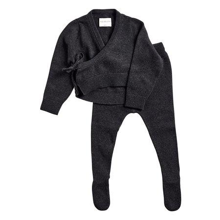 KIDS Bacabuche Wrap Top & Footie Set - Black Charcoal
