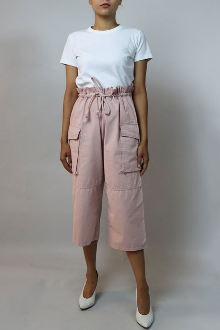 W A N T S High Waisted Cargo Pants - Pink