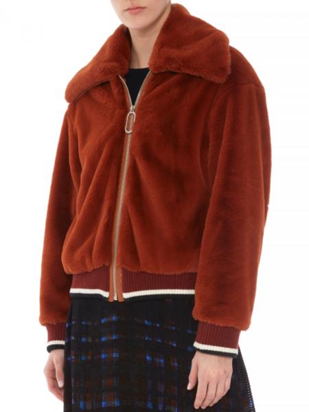 Markus Lupfer Gina Faux Bomber jacket - Chestnut