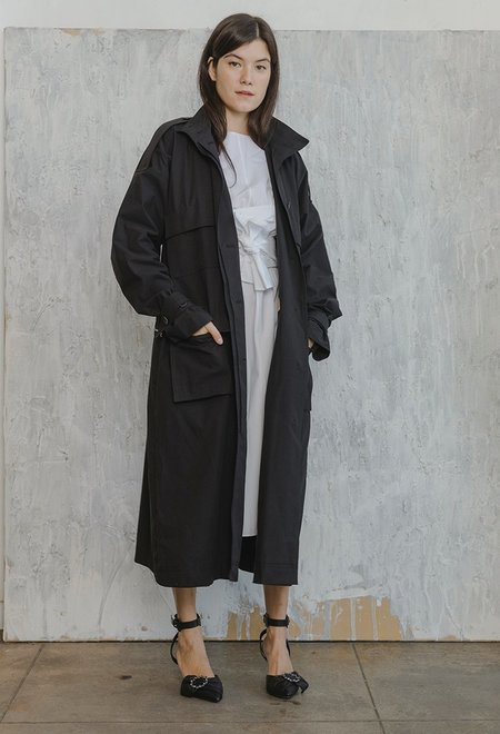 Nehera Two Piece Trench Coat - Black