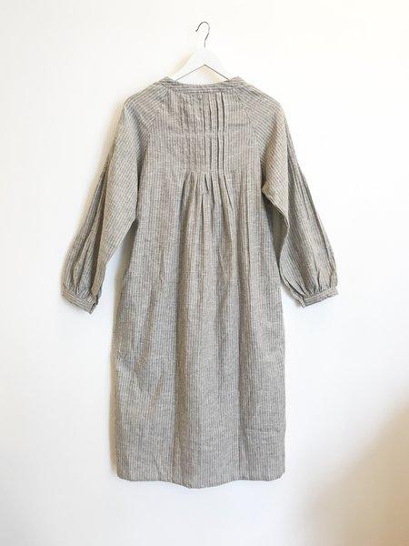 at Dawn. Organic Hemp Cotton Mid Shirt - Brown Stripe