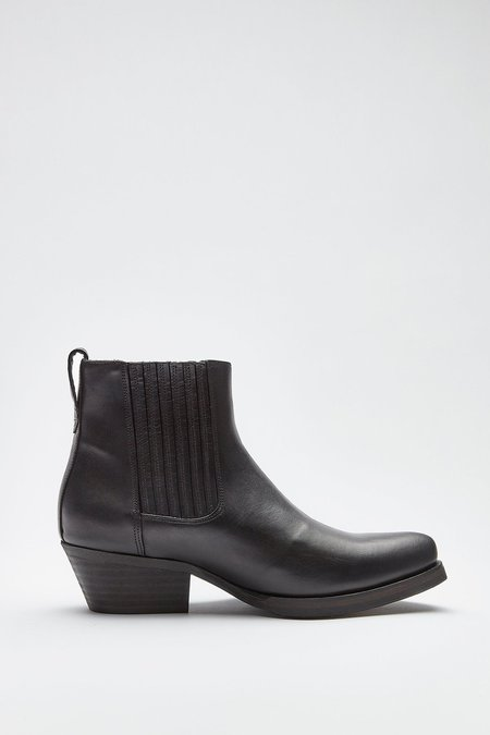 Our Legacy Leather Cuban Boot - black