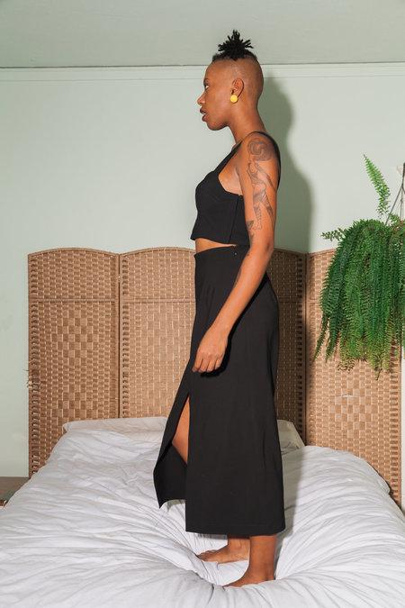 Waltz Bralette Top and Long Skirt - BLACK