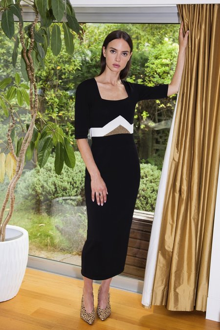 MILA ZOVKO TOMICA Dress - Black/Cream/Bronze