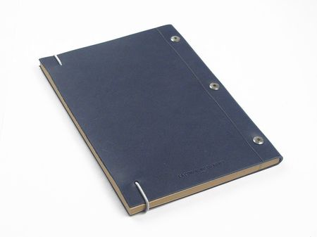 La compagnie du kraft Medium Leather Notebook - Cobalt