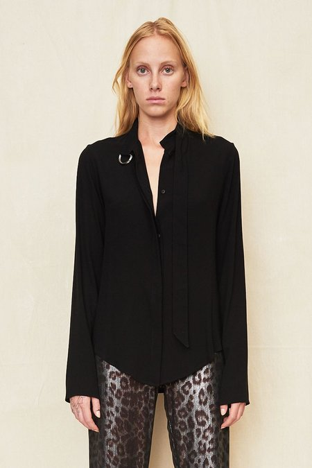 Assembly New York Non Collar Blouse - Black