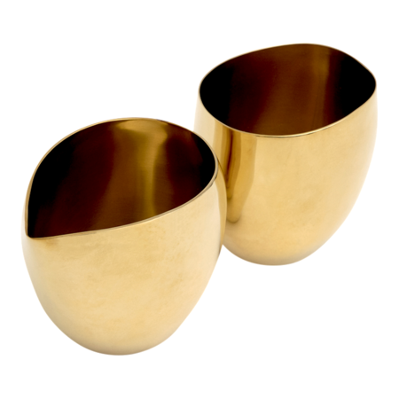 Tina Frey Milk & Sugar Set - BRASS