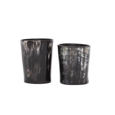 Rose & Fitzgerald Whisky Tumbler Set - Dark Horn
