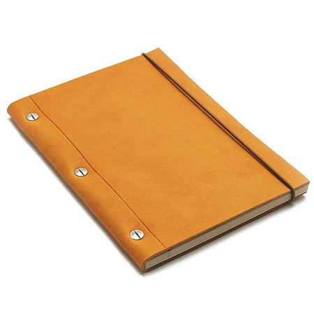 La compagnie du kraft Medium Leather Notebook - Havana