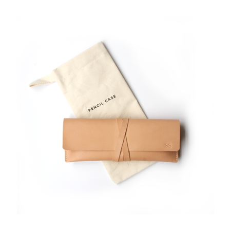 Appointed Leather Pencil Case - NATURAL