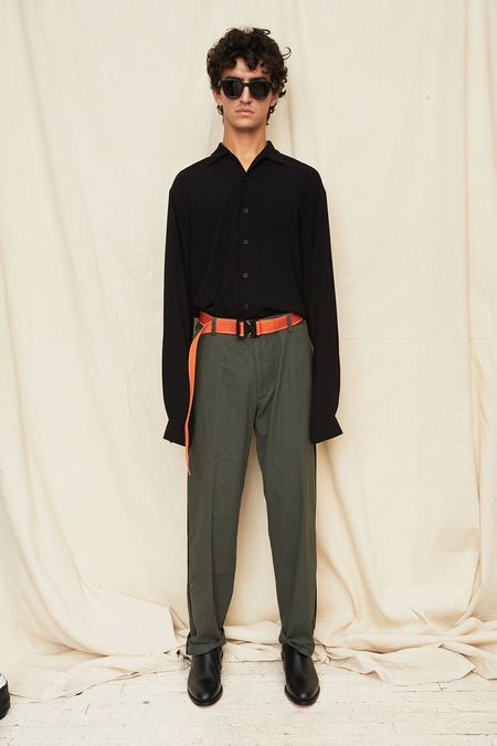 Assembly New York L/S Camp Button Up - Black