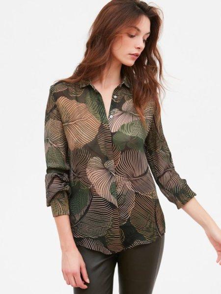 Hartford Clyde Leaf Shirt - Green/Black