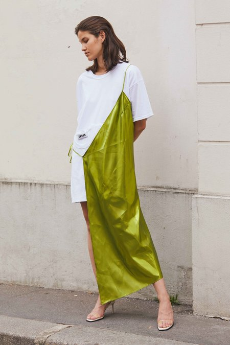 Index Series Jodi Half Dress - Iridescent Green