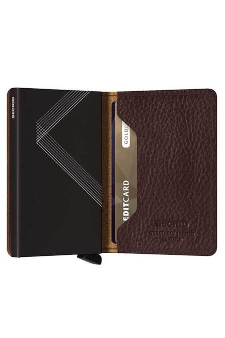Unisex Secrid Slim Wallet - Stitch Linea Espresso