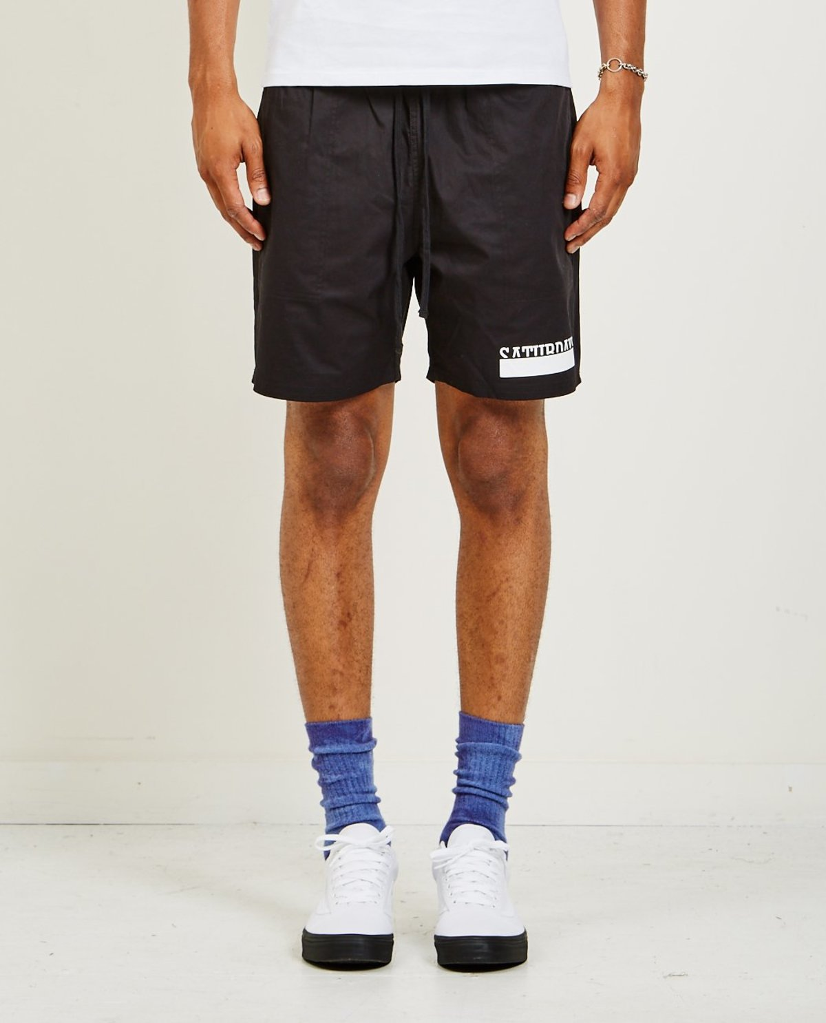 4649772562 Saturdays RITCHIE BAR OVERLAP SHORT - BLACK | Garmentory