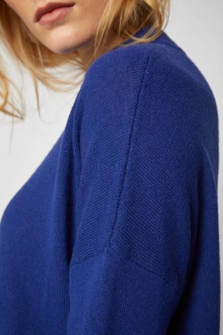 Lanius Casual Organic Merino Wool Sweater - Royal Blue