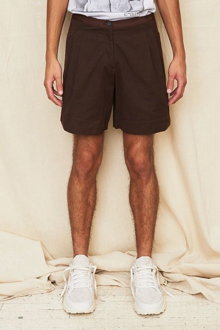 Assembly New York Cotton Pleat Short - Brown