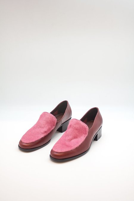 Rachel Comey Eave Leather Loafer - Red/Pink