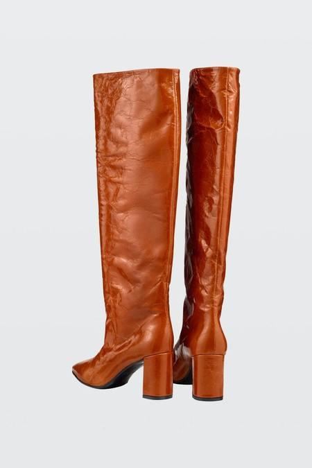 Rachel Comey Glossy Ambition Boots - Cognac