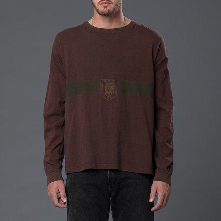 Robert Geller F.C. Charlottenburg Long Sleeve Tee - Rust