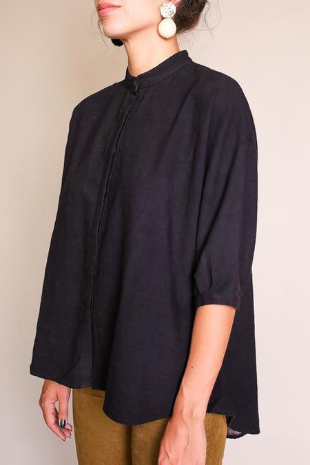 Umber & Ochre Kimono Top - Chebula Black