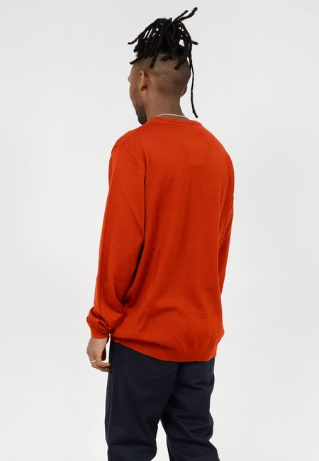 Norse Projects Sigfred Merino Sweater - Oxide Orange