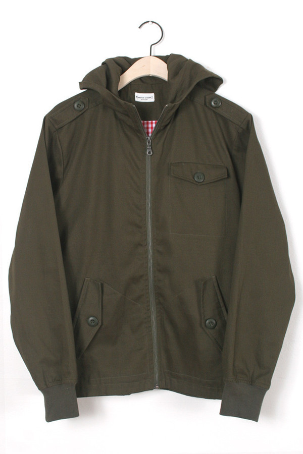 Men's Bridge & Burn Alda Olive Zip-Up Jacket