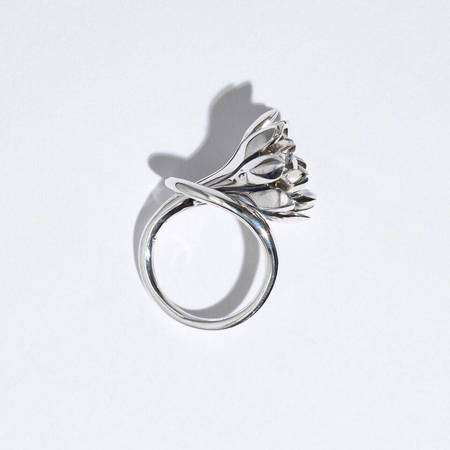 Pamela Love Large Anemone Ring - STERLING SILVER