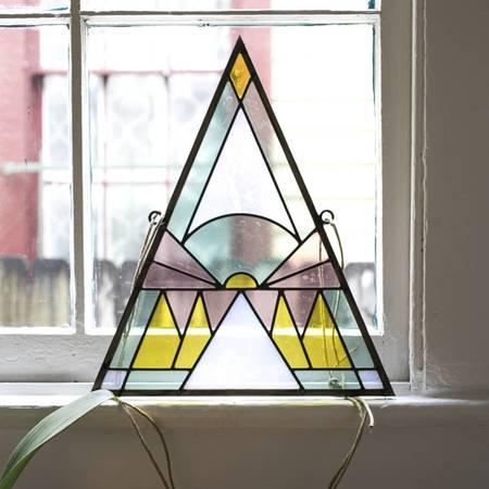 David Scheid Triangle Stained Glass
