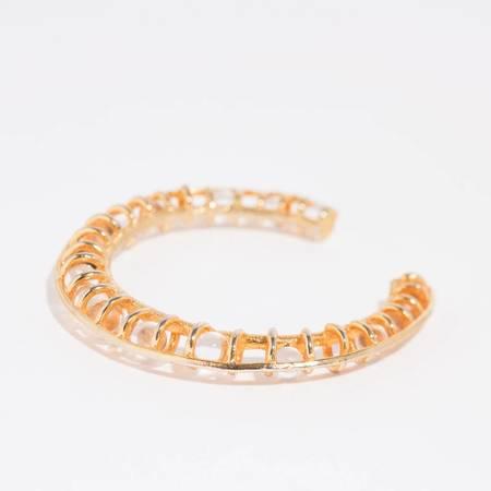 Unearthen Jewelry Mata Cuff - Gold Vermeil/Quartz Spheres