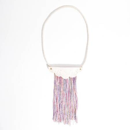 Rainbow Kimono Cloud Necklace - Pastel