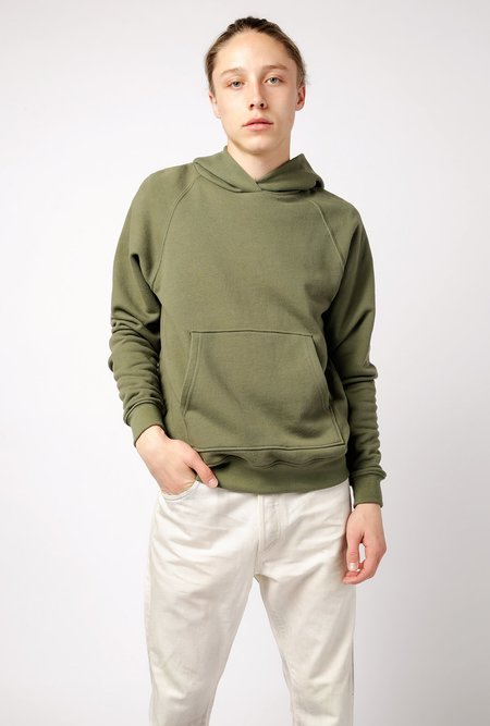 John Elliott Raglan Pullover Hoodie - Olive