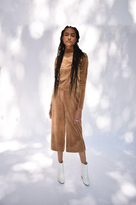 Donna Zhong Easy Velvet Pant - Camel