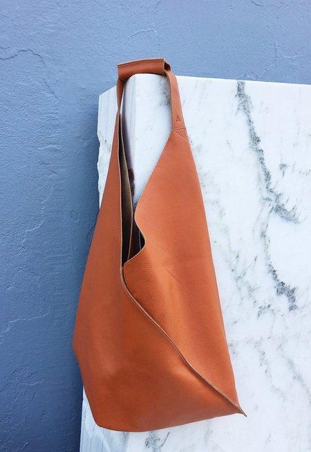 Apple Vai Leather Johla Market Bag - Saddle Brown