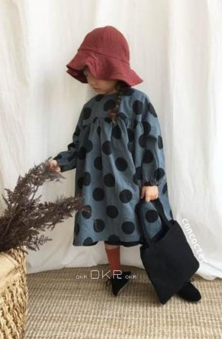 Kids Concocter Autumn Dot Dress - Blue