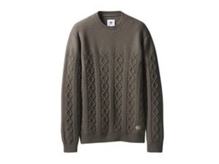 Wings + Horns x Adidas Originals Felted Crew - Simple Brown