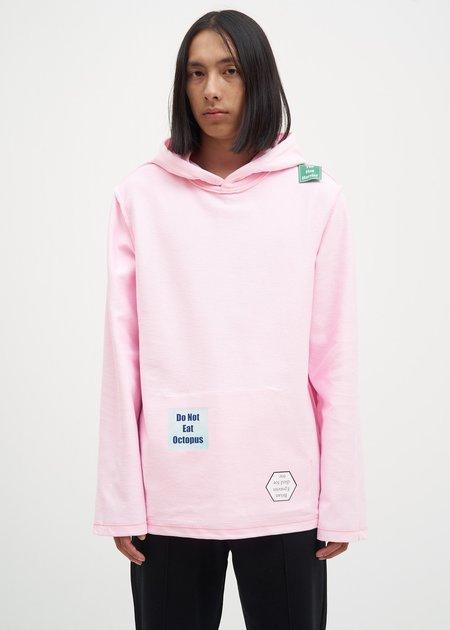 unisex Helmut Lang Flat Hem Hoodie - Light Pink
