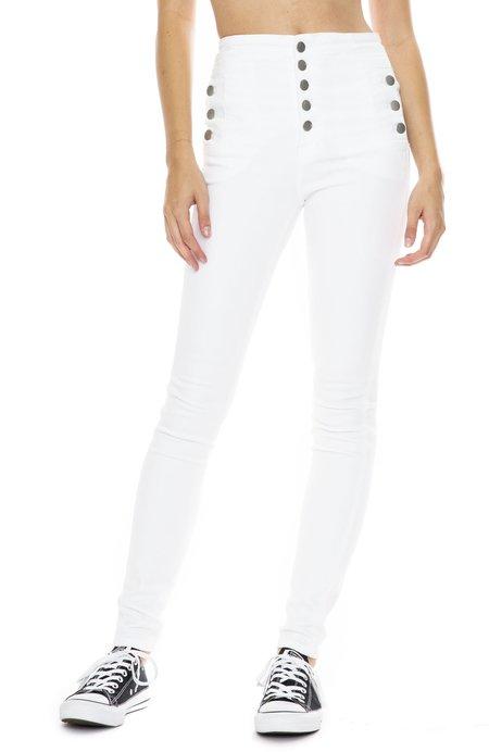 J Brand Natasha High-Waist Jean - Blanc